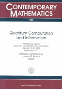 Quantum Computation and Information