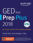 GED Test Prep Plus 2018-2019: 2 Practice Tests + Proven Strategies + ...