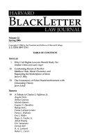 Harvard Blackletter Law Journal