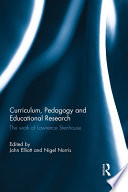 Curriculum  Pedagogy and Educational Research Book