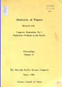Proceedings Pacific Science Congress