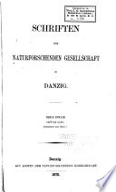 Schriften der Naturforschende Gesellschaft in Danzig