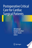 Postoperative Critical Care For Cardiac Surgical Patients Book PDF