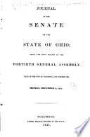 Journal Of The Senate Of The General Assembly Of The State Of Ohio