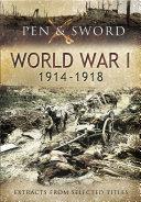 Pdf An Anthology of World War One, 1914–1918 Telecharger
