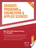 Peterson's Graduate Programs in Management of Engineering & Technology, Materials Sciences & Engineering, and Mechanical Engineering & Mechanics 2011