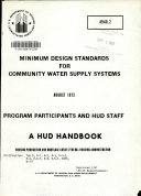 Minimum Design Standards for Community Water Supply Systems
