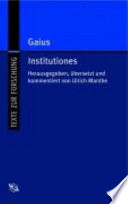 Gaius Institutiones