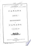 Census of Canada  1890 91 Book