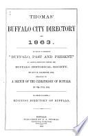 Thomas Buffalo City Directory For