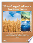 Water Energy Food Nexus Book