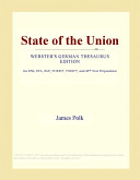 State of the Union  Webster s German Thesaurus Edition  Book