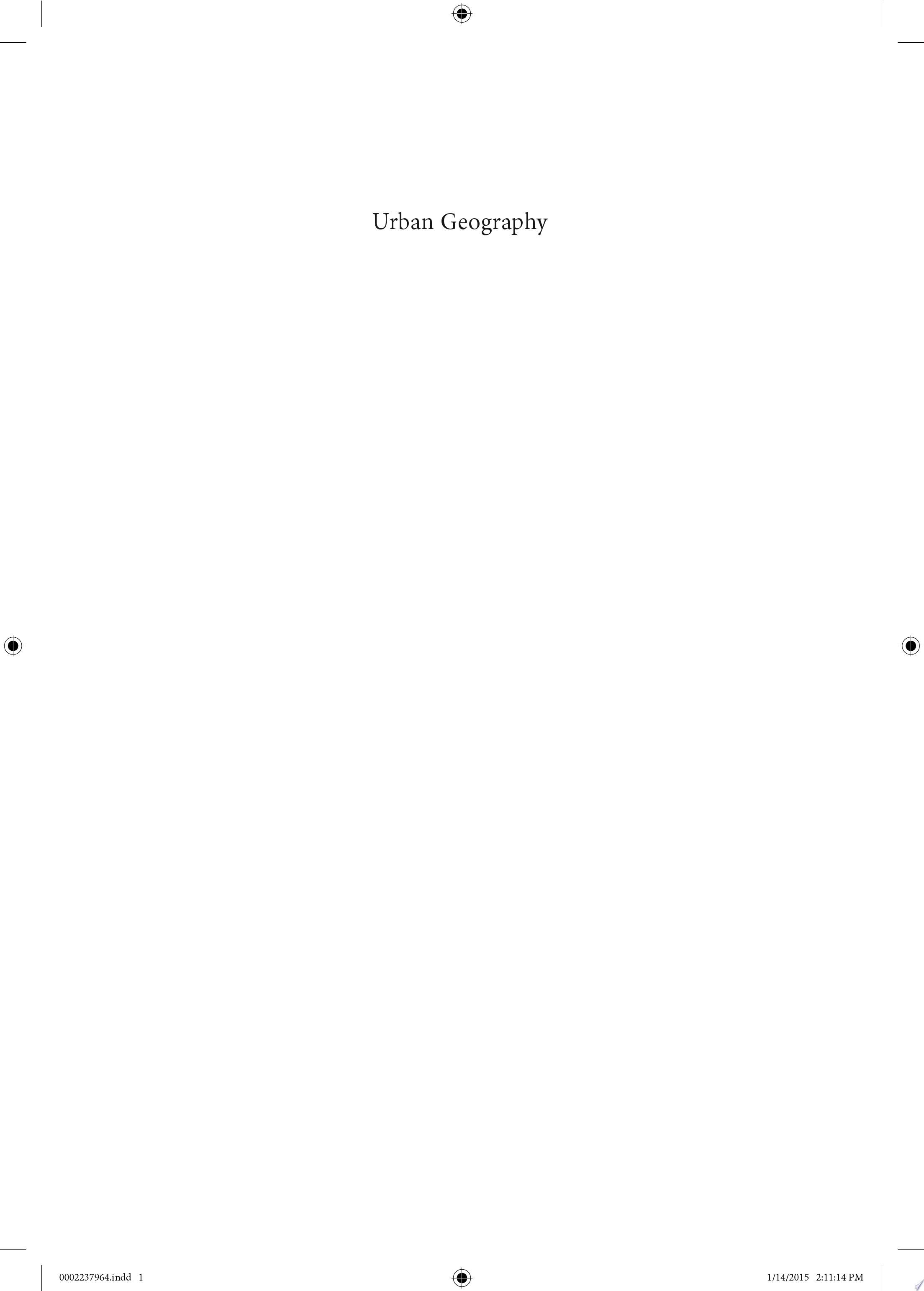 Urban Geography