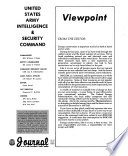 Journal of the U.S. Army Intelligence & Security Command