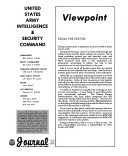 Journal of the U S  Army Intelligence   Security Command