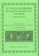 Cicero De Finibus Bonorum Et Malorum