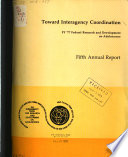 Toward Interagency Coordination: Federal Research and Development on Adolescence