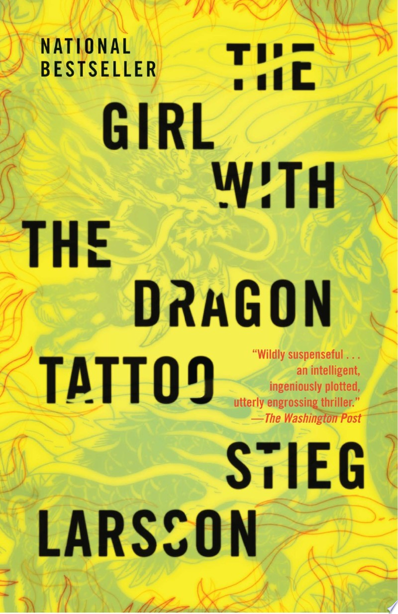 The Girl with the Dragon Tattoo banner backdrop
