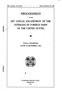 Proceedings of the     Annual Encampment of the Veterans of Foreign Wars of the United States