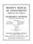 Moody s Municipal   Government Manual