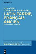 Pdf Latin tardif, français ancien Telecharger