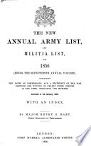 Hart s Annual Army List  Militia List  and Imperial Yeomanry List Book