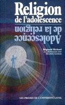 Pdf Religion de l'adolescence, adolescence de la religion Telecharger