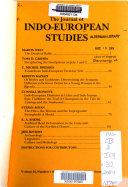 The Journal of Indo European Studies