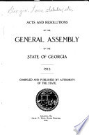 Acts and Resolutons of the General Assembly of the State of Georgia