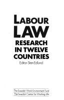 Labour Law Research In Twelve Countries
