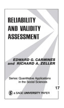 Reliability and Validity Assessment Pdf/ePub eBook