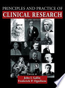 Principles and Practice of Clinical Research Book