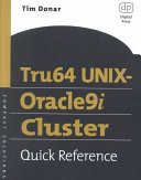 Tru64 UNIX Oracle9i Cluster Quick Reference