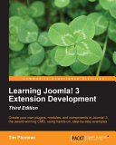 Learning Joomla  3 Extension Development Third Edition