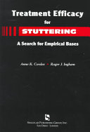 Treatment Efficacy for Stuttering Book