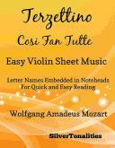 Terzettino Cosi Fan Tutte Easy Violin Sheet Music
