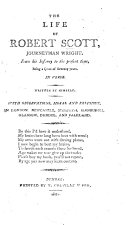Pdf The Life of Robert Scott, Journeyman Wright ... In Verse; Written by Himself. With Observations, Moral and Religious, Etc