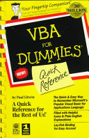 VBA for Dummies Quick Reference