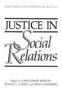 Justice in Social Relations Pdf/ePub eBook