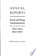 Annual Report Food And Drug Administration