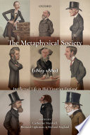 The Metaphysical Society 1869 1880