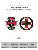 2020 U.S. ARMY MEDEVAC CRITICAL CARE FLIGHT PARAMEDIC STANDARD MEDICAL OPERATING GUIDELINES - PlusTCCC Guidelines for Medical Personnel And Management of Covid-19 Publications Combined19