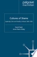 Cultures of Shame