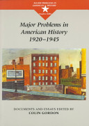 Major Problems in American History  1920 1945 Book