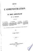 Revue De L Administration Et Du Droit Administratif De La Belgique