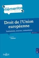 Pdf Droit de l'Union européenne. Institutions, sources, contentieux - 5e éd. Telecharger