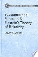 Substance and Function and Einstein s Theory of Relativity