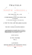 Travels in North America During the Years 1834  1835   1836