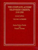 The Complete Actors' Television Credits, 1948-1988: Actresses