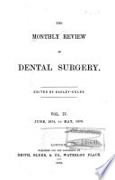 The Monthly Review of Dental Surgery Book PDF